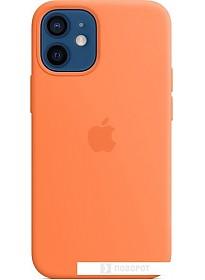 Чехол Apple MagSafe Silicone Case для iPhone 12 mini (кумкват)