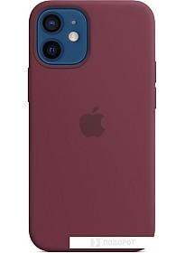 Чехол Apple MagSafe Silicone Case для iPhone 12 mini (сливовый)