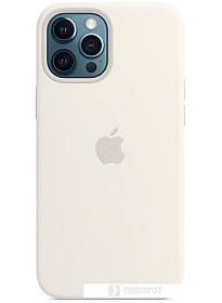 Чехол Apple MagSafe Silicone Case для iPhone 12 Pro Max (белый)