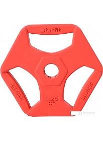 Диск Starfit BB-205 1.25 кг (красный)