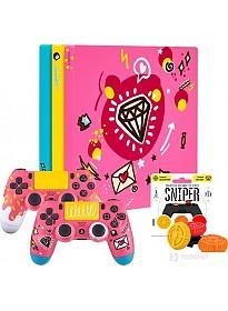 Игровая приставка Sony PlayStation 4 Slim 1TB Rainbo Sweet (2 геймпада)