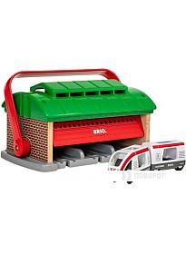Элемент железной дороги BRIO Депо-переноска с поездом и вагоном 33474