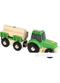 BRIO Трактор с бревнами 33799