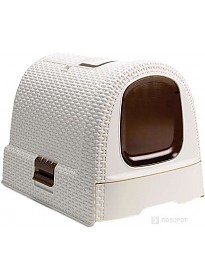 Туалет-домик Curver Cat Litter Box (белый)