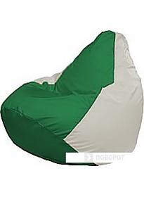 Кресло-мешок Flagman Груша Медиум Г1.1-244 (зелёный/белый)