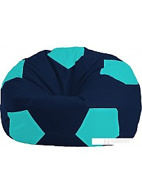 Кресло-мешок Flagman Мяч Стандарт М1.1-50 (темно-синий/бирюзовый)