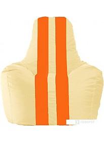 Кресло-мешок Flagman Спортинг С1.1-143 (светло-бежевый/оранжевый)