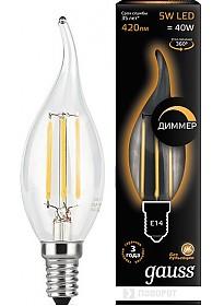 Светодиодная лампа Gauss E14 5 Вт 2700K 104801105-D