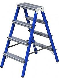Лестница-стремянка Новая высота NV 114 двухсторонняя 2x4 ступеней