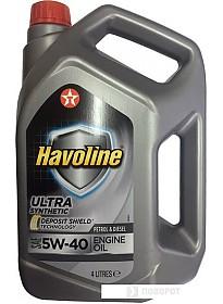Моторное масло Texaco Havoline Ultra 5W-40 4л