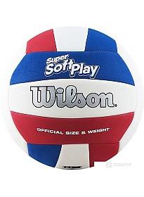 Мяч Wilson Super Soft Play Volleyball (5 размер, красный/белый/синий)