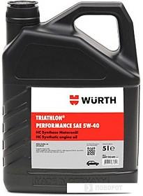 Моторное масло Wurth Triathlon Performance 5W-40 5л