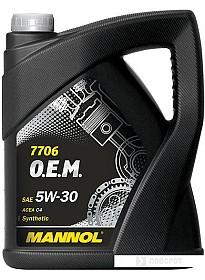Моторное масло Mannol 7706 O.E.M. 5W-30 5л [MN7706-5]