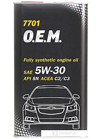Моторное масло Mannol O.E.M. for chevrolet opel metal 5W-30 4л