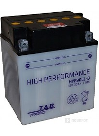 Мотоциклетный аккумулятор TAB YB30CL-B (30 А·ч)