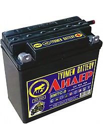 Мотоциклетный аккумулятор Tyumen Battery Лидер 6МТС-9 (9 А·ч)