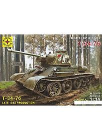 Сборная модель Моделист Советский танк Т-34-76 303530