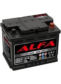 Автомобильный аккумулятор ALFA Hybrid 45 R low (45 А·ч)