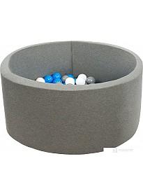 Сухой бассейн Misioo 90x30 200 шаров (серый)