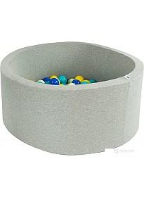 Сухой бассейн Misioo 90x30 200 шаров (светло-серый)