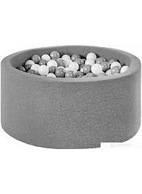 Сухой бассейн Misioo 90x40 200 шаров (серый)