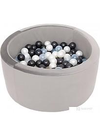 Сухой бассейн Misioo 90x40 200 шаров (серый вельвет)