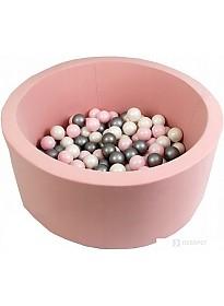 Сухой бассейн Misioo 90x40 200 шаров (светло-розовый)