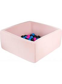 Сухой бассейн Misioo 90x90x40 200 шаров (светло-розовый)