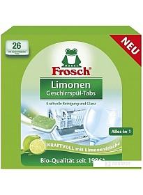 Таблетки для посудомоечной машины Frosch Лимон 26 шт