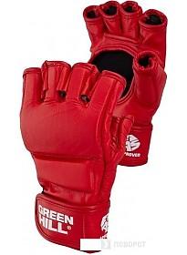 Перчатки для единоборств Green Hill MMF-0026a (S, красный)