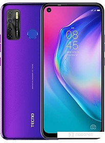 Смартфон Tecno Camon 15 (фиолетовый)