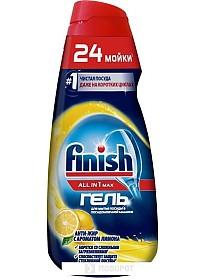 Гель для посудомоечной машины Finish All In 1 Max Анти-жир Лимон (600 мл)