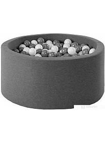 Сухой бассейн Misioo 90x40 200 шаров (графит)