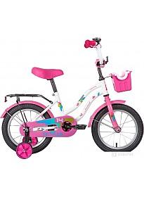 Детский велосипед Novatrack Tetris 14 2020 141TETRIS.WT20 (белый/розовый)