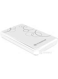 Внешний жесткий диск Transcend StoreJet 25A3 1TB White (TS1TSJ25A3W)