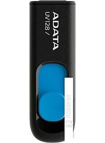USB Flash A-Data DashDrive UV128 Black/Blue 16GB (AUV128-16G-RBE)