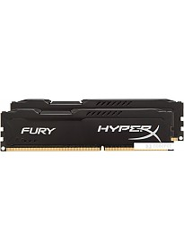 Оперативная память Kingston HyperX Fury Black 2x8GB KIT DDR3 PC3-14900 (HX318C10FBK2/16)